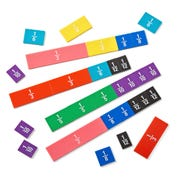 Rainbow Fraction/Decimal Tiles, Set of 51