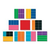 Foam Rainbow Fraction Squares, Set of 51