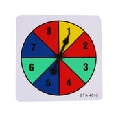 Four Color Spinner, 1-8, Set of 5