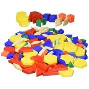 Plastic Pattern Blocks, 1-cm, Set of 250