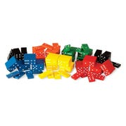 Color-Coded Double-Six Dominoes, Set of 6