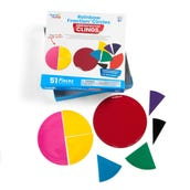 Rainbow Fraction® Circles, Demonstration Clings