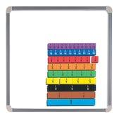 Foam Magnetic Fraction Strips, Set of 51