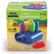 Primary Science Jumbo Eyedroppers Set Of 6 With Stand