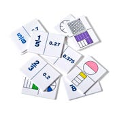 Fraction/Decimal Dominoes, Set of 30