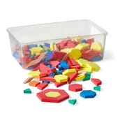 Foam Pattern Blocks with Tote, 1-cm, Set of 250
