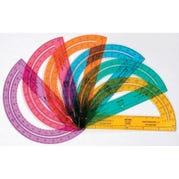 Rainbow Protractors, Set of 24