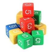 Color Number Cubes, Set of 12
