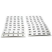 Number Squares 1-100, Set of 125