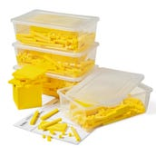 Yellow Plastic Base Ten Blocks Class Set