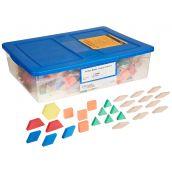 Foam Pattern Blocks Student Bulk Kit , Set of 30