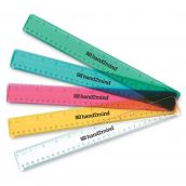Shatter-Resistant Transparent Ruler, Set of 10