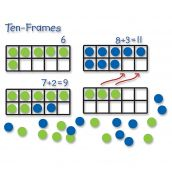Giant Magnetic Demonstration Ten Frame Set