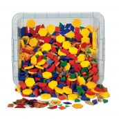 Plastic Pattern Blocks Classroom Kit, Set of 1,250