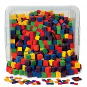 """1"""" Wooden Color Cubes Classroom Kit, Set of 1,000"""
