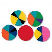 Plastic Rainbow Fraction® Circles, Set of 51