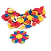 Plastic Pattern Blocks with Tote, 1-cm,  Set of 250
