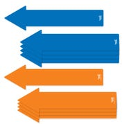 Social Distancing Floor Decals, 12 inch Arrows, Set of 10