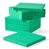 Green Foam Base Ten Flats, Set of 10