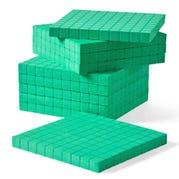 Green Foam Base Ten Flats, Set of 10