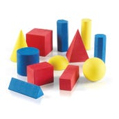 Foam Geometric Solids, Set of 12