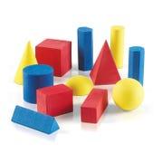 Foam Geometric Solids, Set of 12