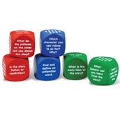 Reading Comprehension Foam Cubes, Set of 6