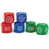 Reading Comprehension Foam Cubes, Set of 6