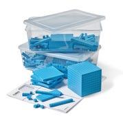 Blue Plastic Base Ten Blocks Place Value Set