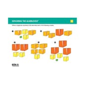 Algeblocks Activity Cards: Exploring The Models, Set of 16