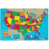 U.S.A.  Foam Map Puzzle