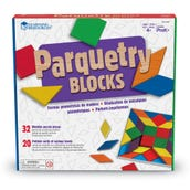 Parquetry Blocks and Cards, Set of 32