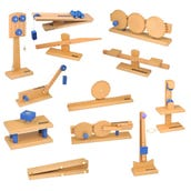 Simple Machines Models Set: Work, Force, and Energy, Set of 12