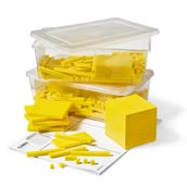 Yellow Plastic Base Ten Blocks Place Value Set