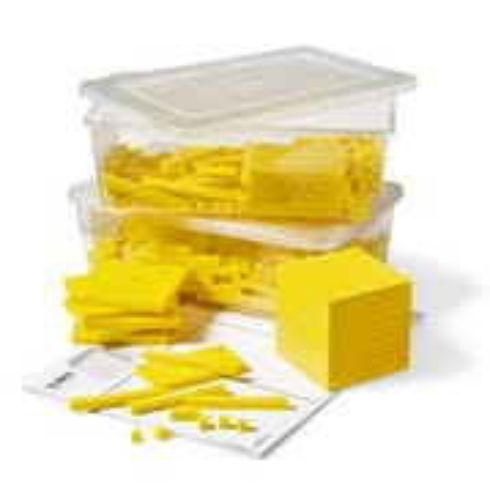 Yellow Plastic Base Ten Blocks Place Value Set