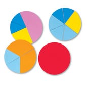 Foam Basic Fraction Circles, Set of 24