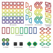 GeoSmart™ Educational Magnetic Set, 100 Pieces
