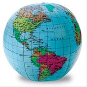 Inflatable Globe, 12-inches