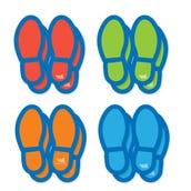 Social Distancing Floor Decals, Footprints, Set of 16