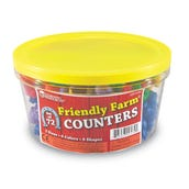 Friendly Farm® Animal Counters, Set of 72