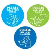 Handwashing Reminder Decals, Set of 60