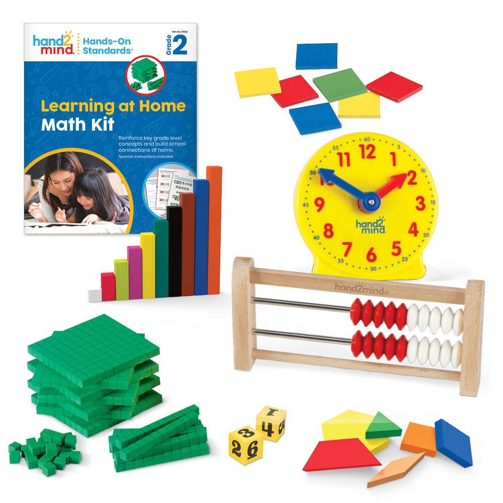 hands-on standards learning at home kit with manipulatives and workbook