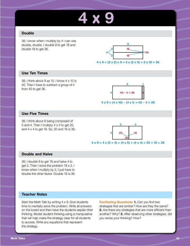 Daily math fluency grade 3 math talks sample lesson