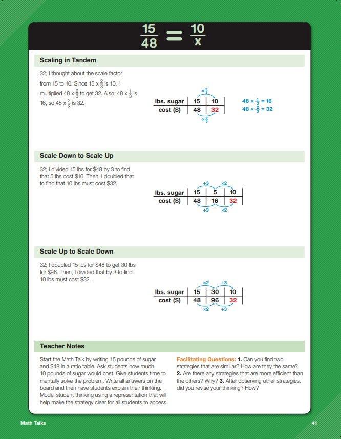 Daily math fluency grade 6 math talks sample lesson