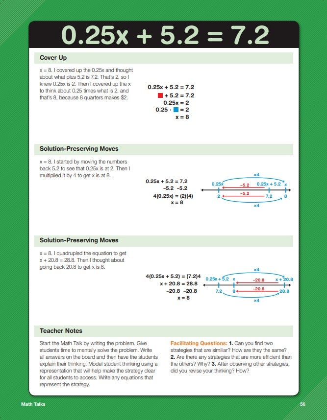 Daily math fluency grade 8 math talks sample lesson