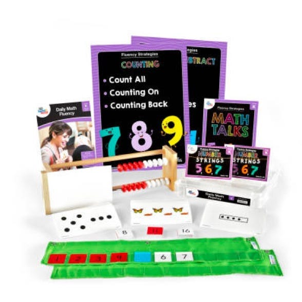 Daily math fluency kit for kindergarten teachers