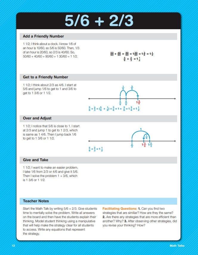Math Fluency Intervention Fractions and Decimals Math Talks sample lesson