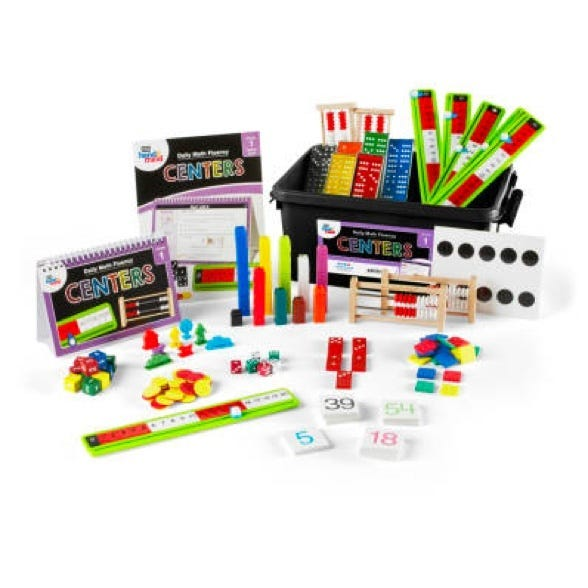 math center kit with for daily math fluency practice for first grade students