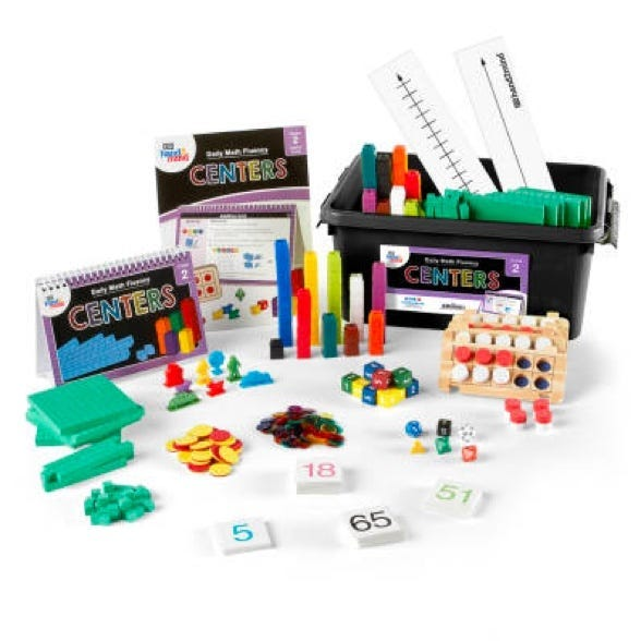 center kit for daily math fluency second grade students