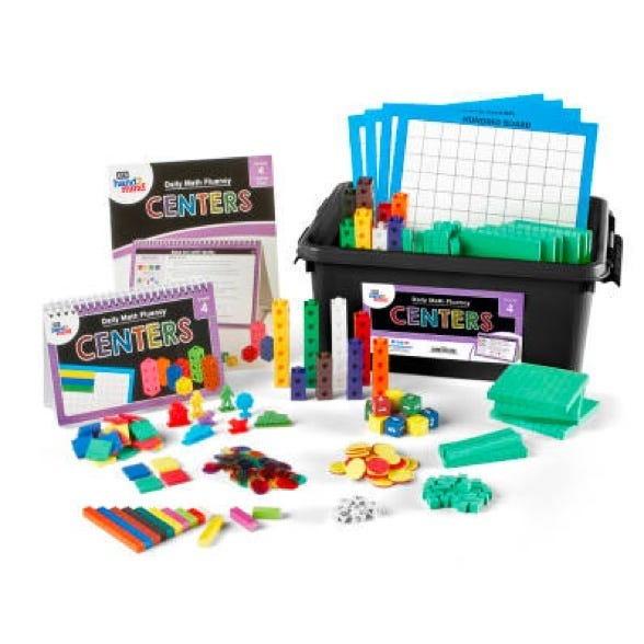 center kit for daily math fluency fourth grade students